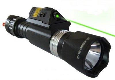 laser lampa grön